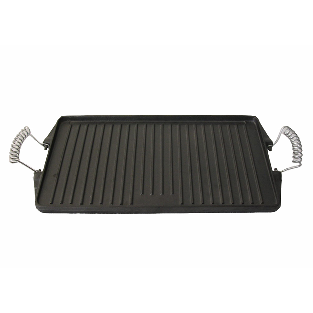 Kabob Nonstick Cookware Sets BBQ Plate Double Used Cast iron Grill Pan/Griddle With Spring Handle