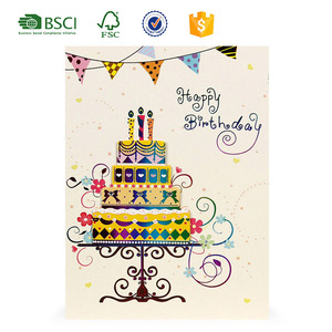 Happy Birthday Wishes Greeting Card Samples Suppliers And Manufacturers At Alibaba