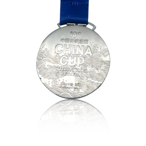 Custom 3D Silver Color Casting Christmas Gift Souvenir US Russia Medal