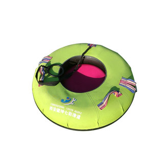 Durable pvc inflatable circle snow sled tubes for adult