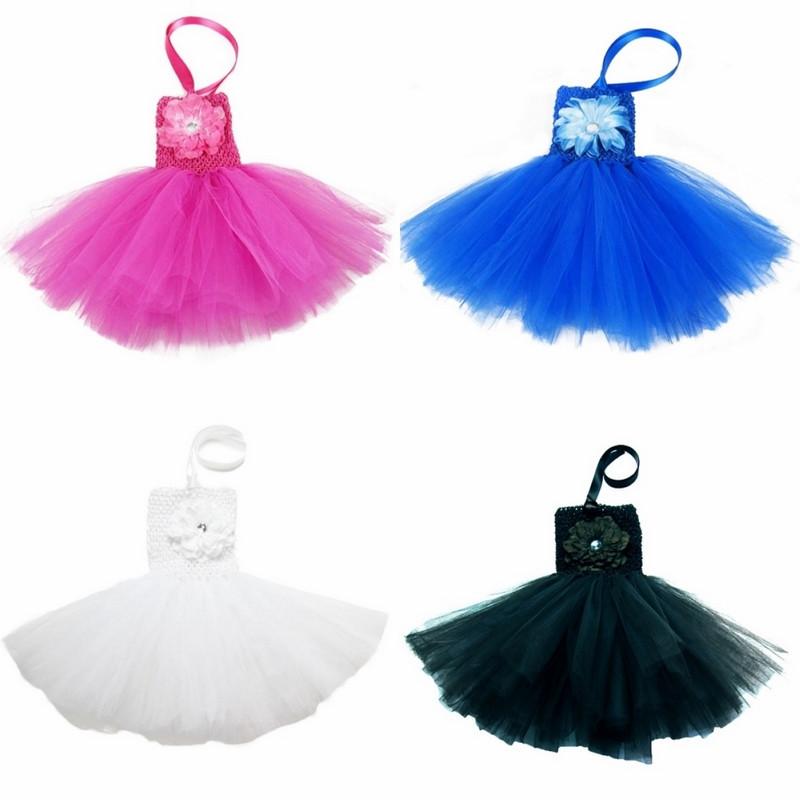 התינוק הפעוט טוטו השמלה עם אדמונית, פרח בחזית, פעוט summe השמלה 0-2years 13 מוצק צבע משלוח חינם על ידי CPAM