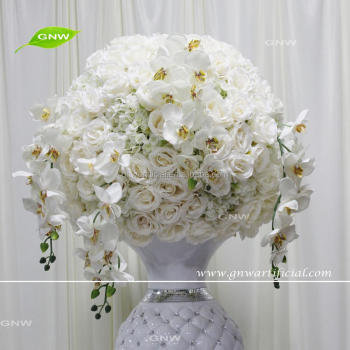Gnw Ctra 1705010 White Silk Orchid And Rose Wedding Decorative