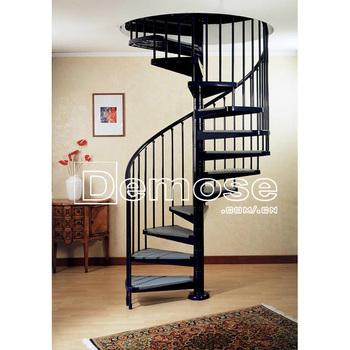 Escaleras En Espiral Diseño De La Parrilla Para Espacios Pequeños Con Decoración De Hierro Forjado Pasamanos De La Escalera Interior Buy Escaleras