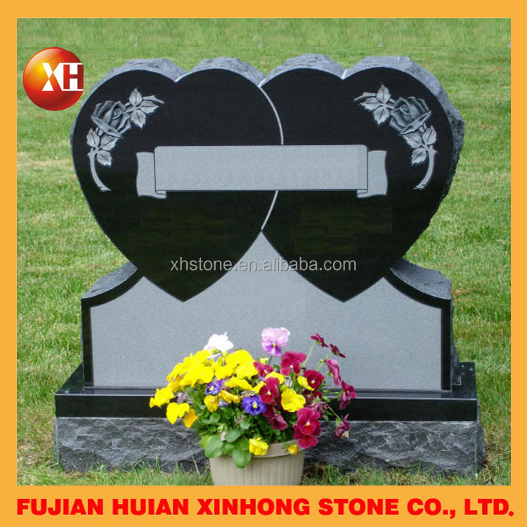 cheap upright heart headstone design with flower holder