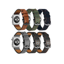 IVANHOE para iWatch Band 38/40mm 42/44mm correa <span class=keywords><strong>de</strong></span> repuesto <span class=keywords><strong>de</strong></span> <span class=keywords><strong>cuero</strong></span> <span class=keywords><strong>genuino</strong></span> para iWatch Series 4 3 2 1 Sport Edition