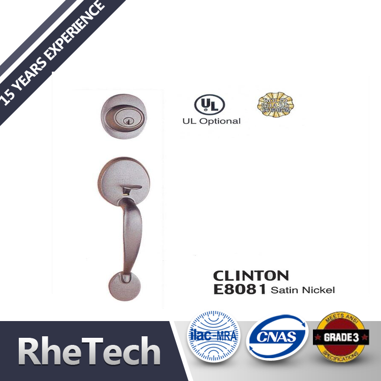 ANSI Grade 2 Zinc Lever Handleset Door Handle Lock Set For Bedroom