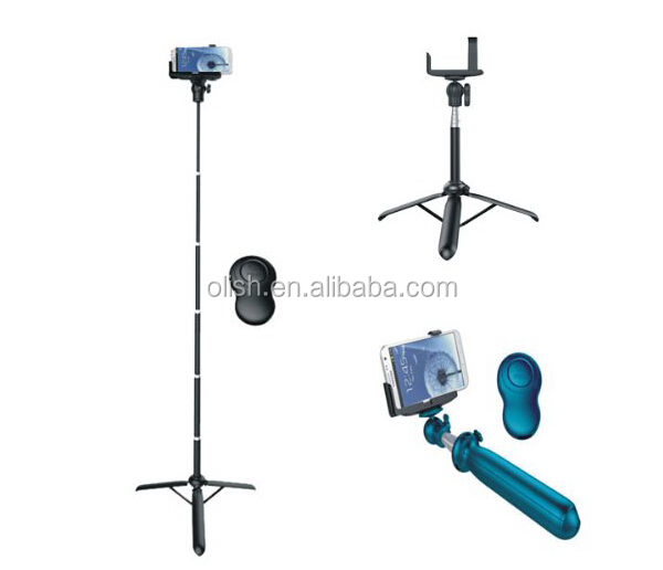 Flexible Extendable Selfie Tripod and Monopod 2 in 1 Stand for Cellphones and Cameras With Shutter Remote