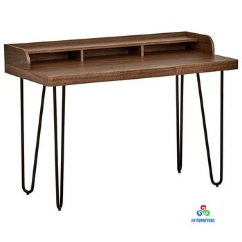 Modern wood and metal computer desk for sales