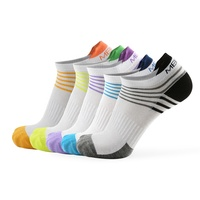 MEIKAN Custom Ankle Crew Anti Slip Sports Sox Merino Wool Bamboo Cycling Compression Men Cotton Athletic Running Socks