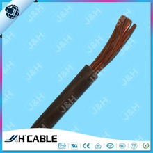 High quality automotive battery cable 4AWG bare copper conductor black PVC