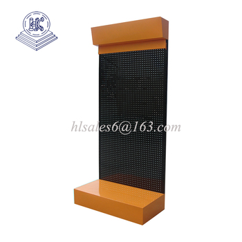 metal material Perforated Display Stands/pegboard display stand