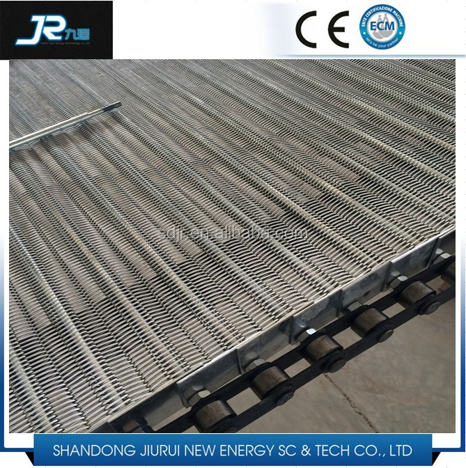 food grade eye link conveyor belt carbon steel wire mesh belt for food machinery