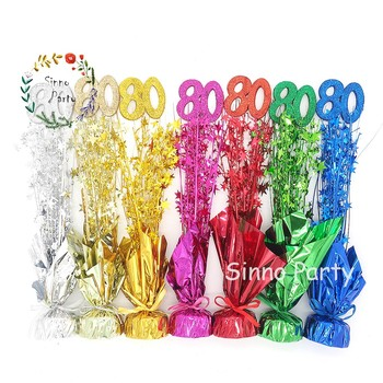 SINNO 80th Birthday Table Centerpieces Balloon Weight Party Supplies China Wholesale
