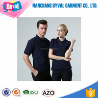 Couple formal polo shirts blank plain for custom printing embroidery 100% cotton shirts wholesale for men and women