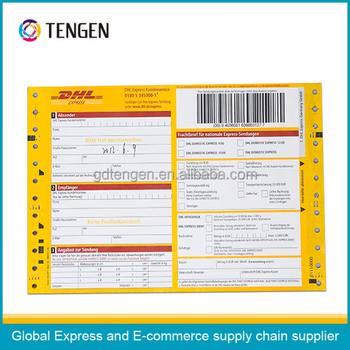 Dhl Courier Bill Printing Airway Bill