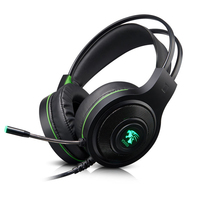 Gaming Headset 7.1 Surround Sound Over Ear Headphones with Noise Canceling Microphone, Stand, LED Light, Vibration