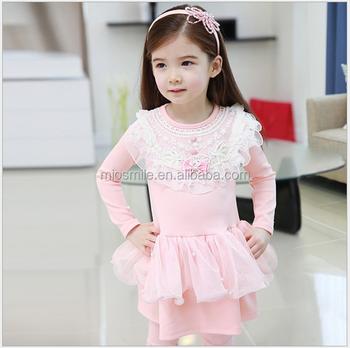 cb725050b S30594w Baby Girls Winter Lace Bow Party Dresses Kids Korean Fashion ...