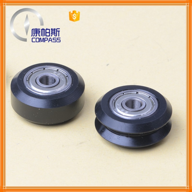3D printer parts plastic pulley with ball bearing 625 ZZ for V guide rail