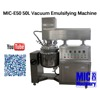 Elaborate and Efficient MIC-50L Vacuum Emulsifying Machine / Homogenizer Mixer with Heater for Paste and Cream Prodcution