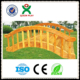 Outdoor Wooden Garden Arch Bridge;Hand made wood bridge;Wood Bridge with rails on two besides ;(QX - 078F)