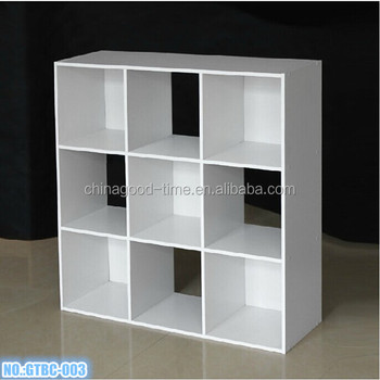 Wooden Diy 9 Cube Kids Bookcase