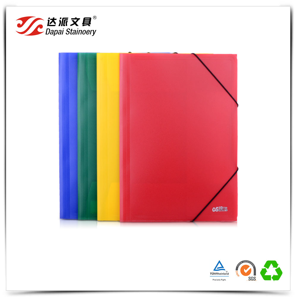 Professional Stationery Manufacturers Flat File Paper File with Elastic Band