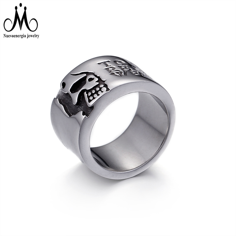 CZ Men Ring Royal Blue Color Stone Jewelry 316 Stainless Steel Accessories