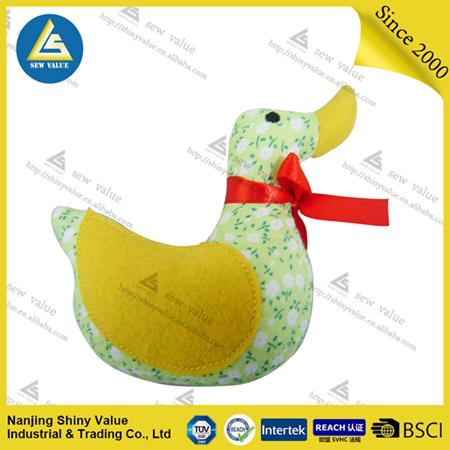 New design yellow duck pin cushions with Small floral as promotional gift for woman/girl