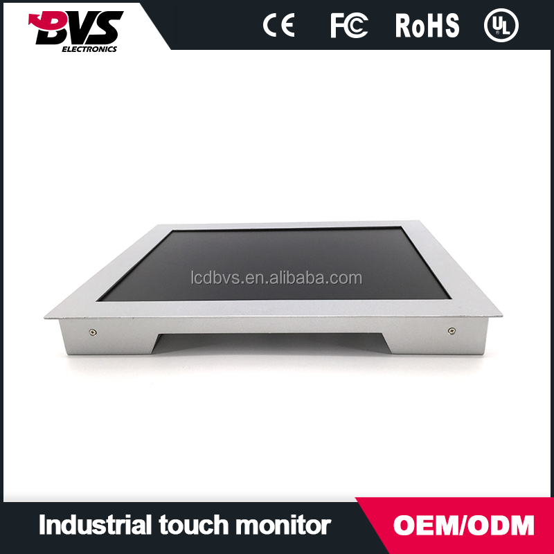 15 inch cga open frame industrial lcd led monitor with touch screen