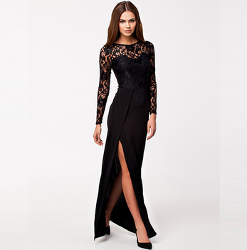 X86564a Summer Long Sleeve Plus Size Women Ladies Long Maxi Lace Evening  Dress - Buy Maxi Dress,Lace Dress,Plus Size Evening Dress Product on ...