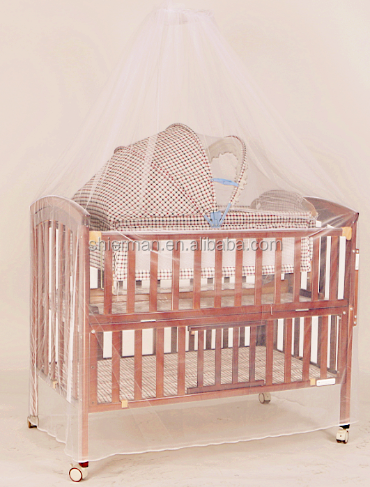 Best quality luxury convertible baby crib with wheels for Baby bed with wheels