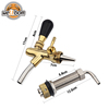 golden beer tap with 100mm shank