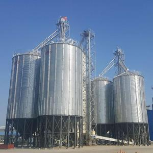 Storage Grain Galvanize Corn Seed Feed Grain Silos Bins for Rice Mill