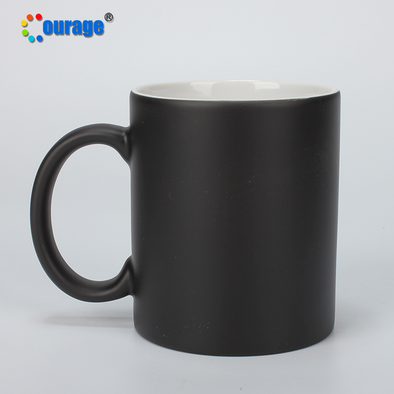 11OZ Personalized Heat Sensitive Color changing Ceramic Coffee Mug