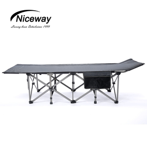Niceway super single bed outdoor usage steel tube army cot folding military camping bed