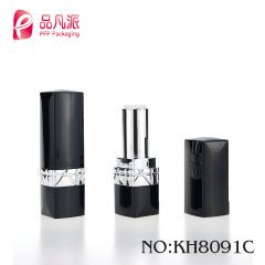 Custom logo round tube packaging plastic lipstick container with free sample