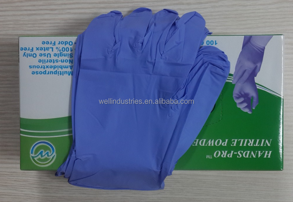 High Quality Medical Gloves of Disposable Nitrile Exam Gloves