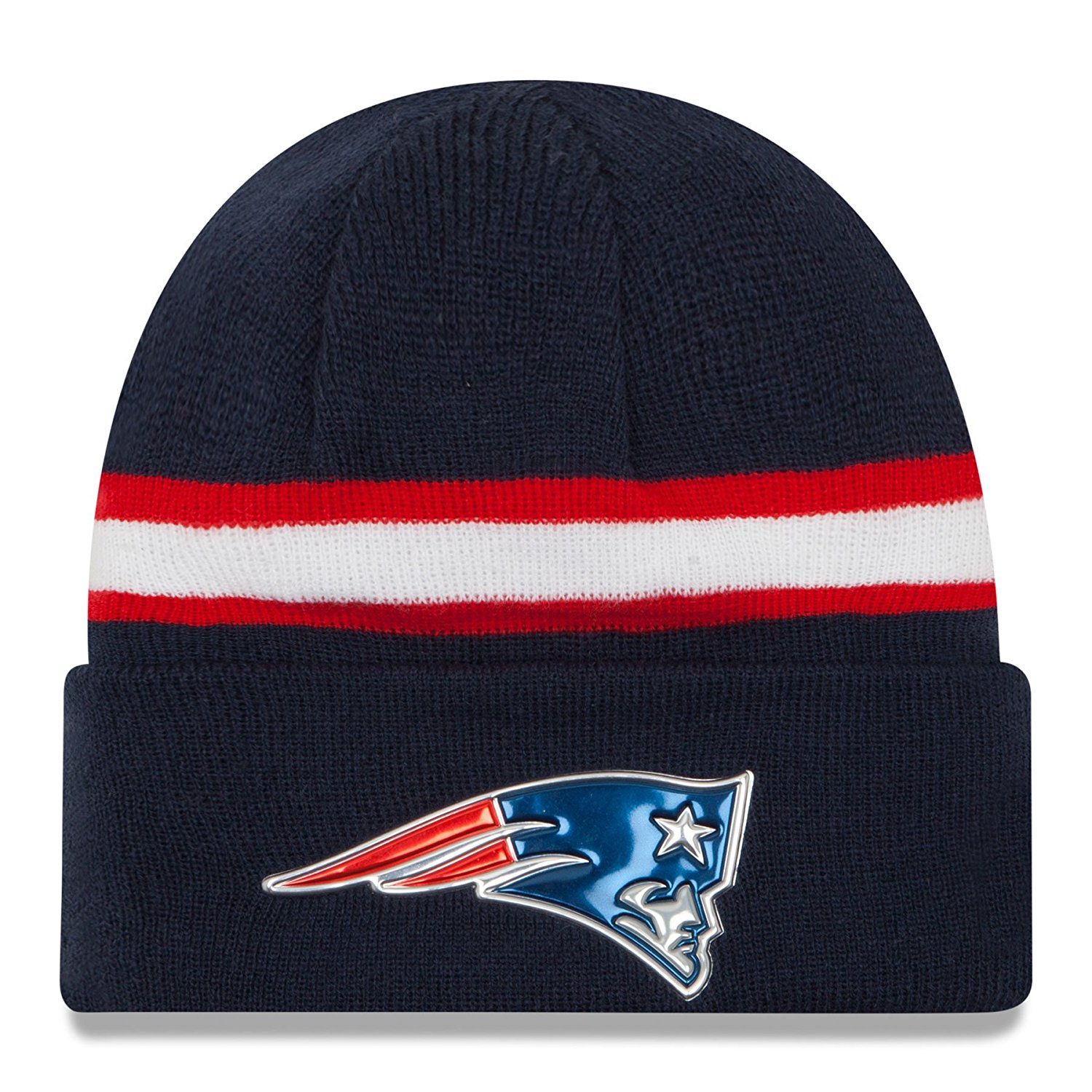 Get Quotations · New England Patriots 2016 NFL On Field Color Rush Cuff  Knit Beanie (Navy) e186c5896c64