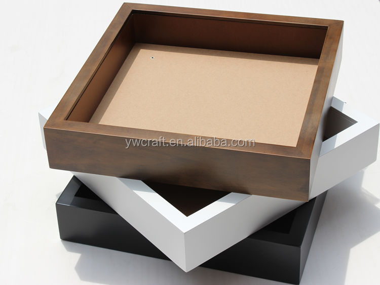 Wooden Shadow Box Frame Hot Ing White Black Walnut Color