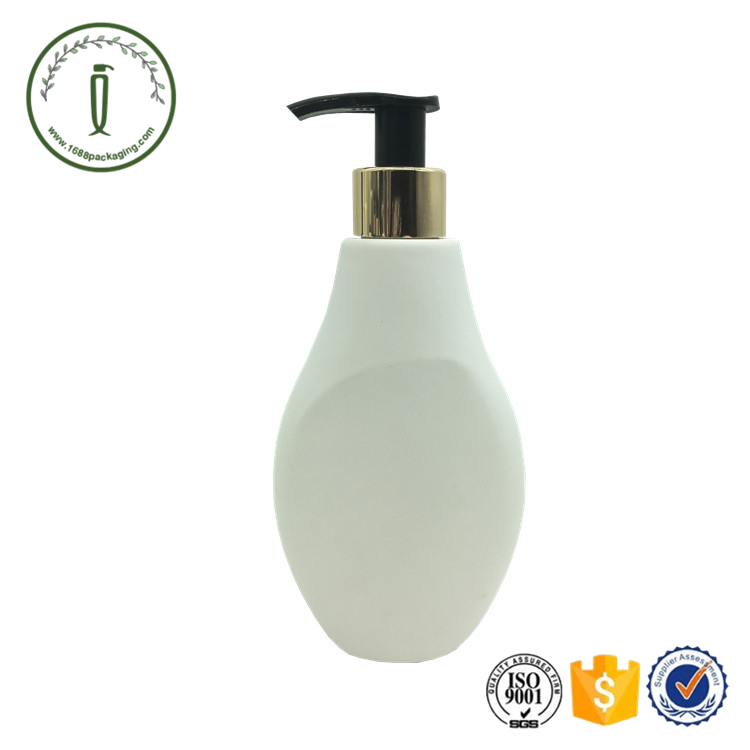 Oval 250ml Plastic HDPE liquid lotion baby shampoo bottle with pump dispenser cosmetic packaging Guangzhou manufacturer