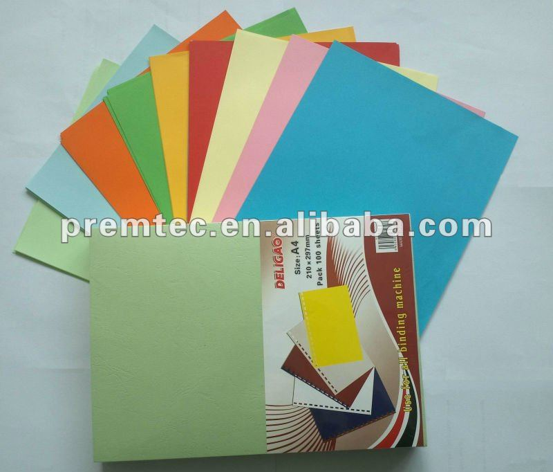 color embossed hard cover paper