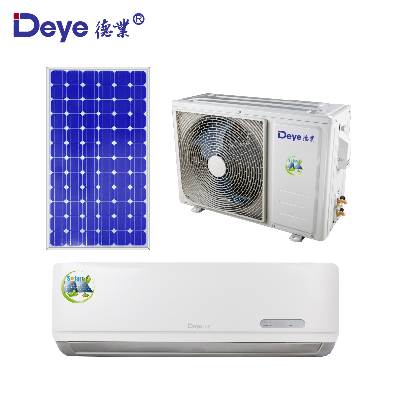 <strong>AC</strong>/DC dual power on grid hybrid 12000 BTU Solar Air Conditioner