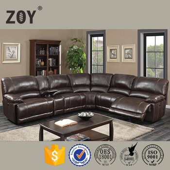 Zoy R9942b Leather Motion Sectional Sofa Set Modern New