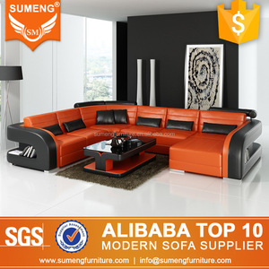 Modern Appearance cheap fancy round sectional leather sofa sets