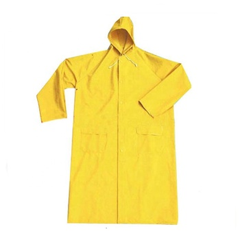 yellow waterproof heavy duty PVC rain coat rain suit