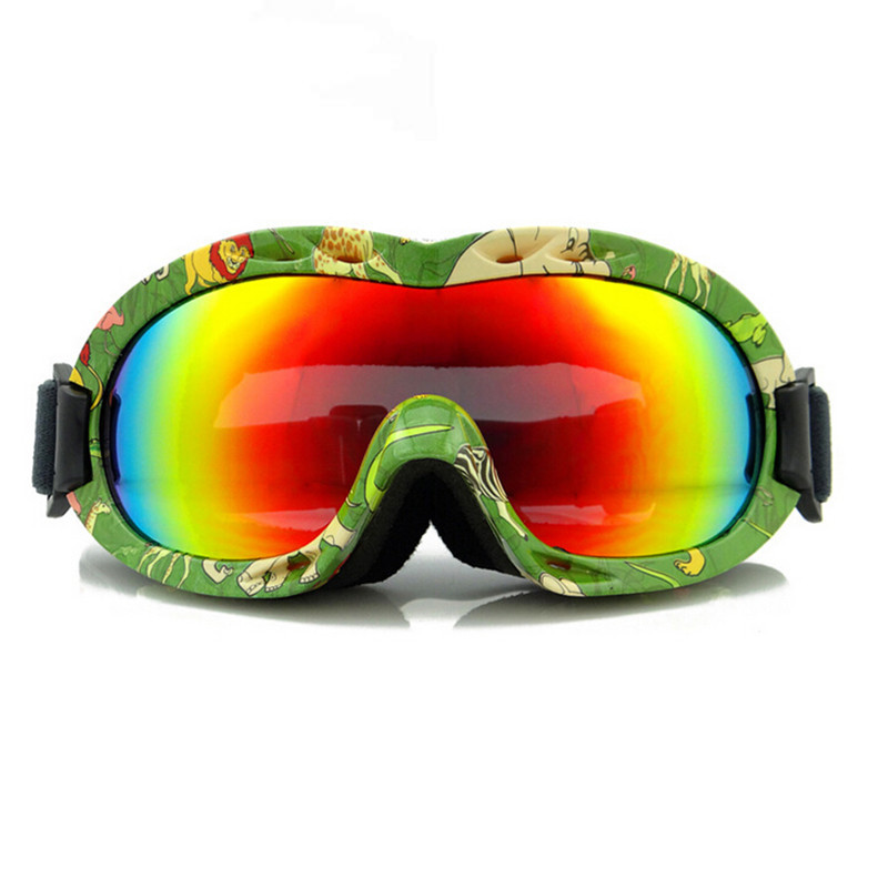 2015 Ski Goggles Kids Snowboard Goggles  100% UV 400 Children Ski Snowboard Glasses Eyewear With Case 6001
