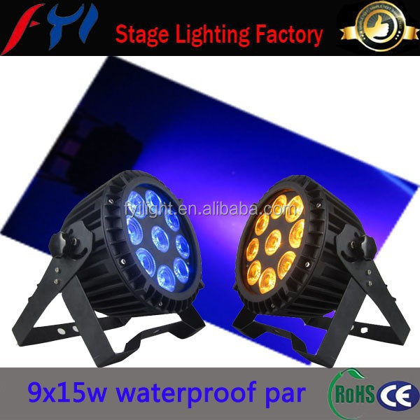Ali cheap 9x15w RGBWA+UA 6in1 led par can waterproof light