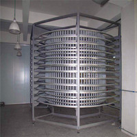 Bread Cake Cooling Vertical Spiral Conveyor/Stainless Steel Frame Screw Conveyor