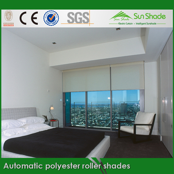 Indoor Sun Shade Office Automatic Polyester Roller Shades
