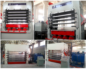 Melamine paper Lamination short cycle Hot Press machine for MDF and PB board
